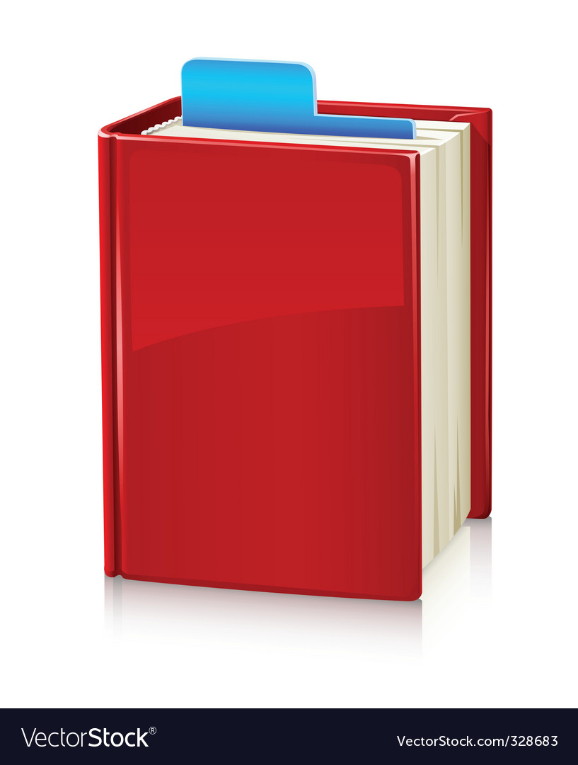 Book with red cover and vector | Price: 1 Credit (USD $1)