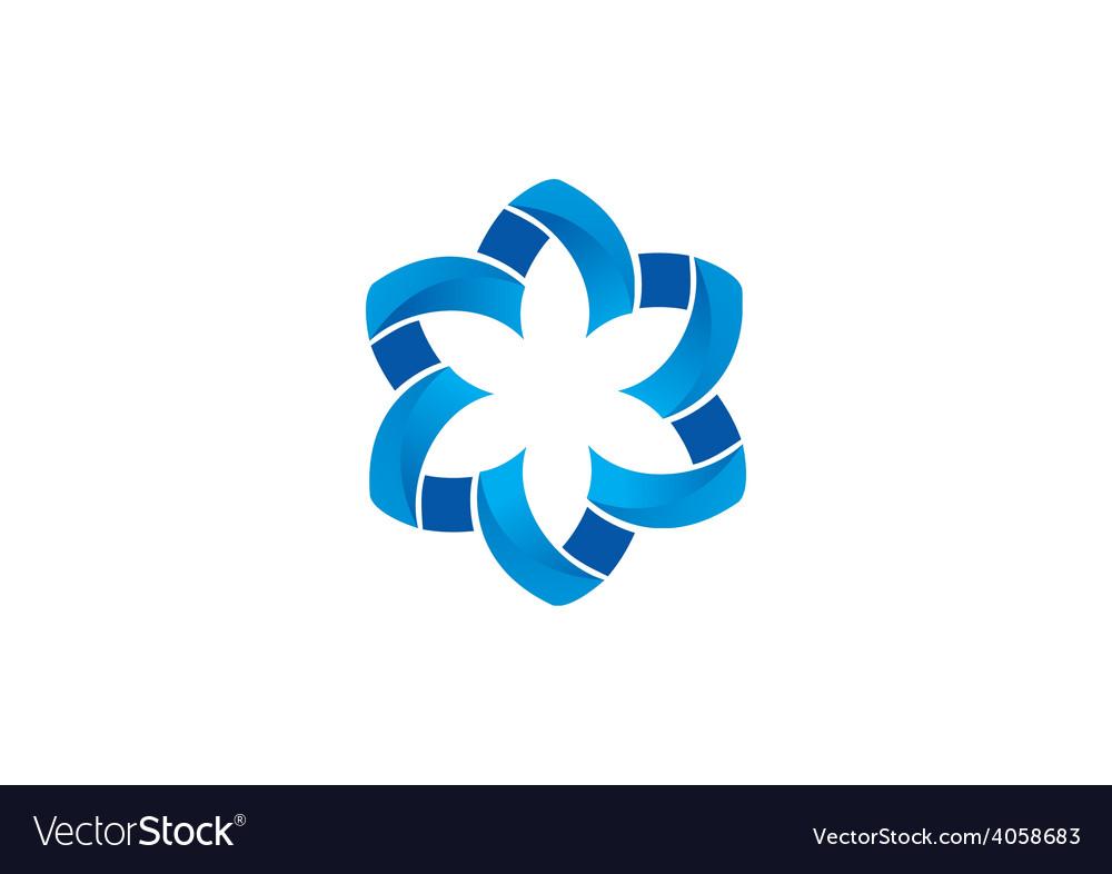 Circular shape flower abstract logo vector | Price: 1 Credit (USD $1)