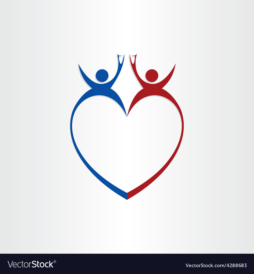 Couple wedding love cheers celebration symbol vector | Price: 1 Credit (USD $1)