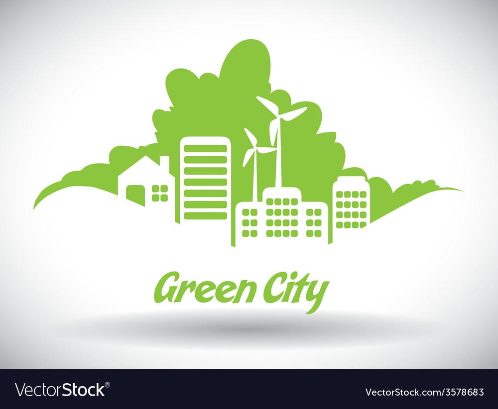 Eco city design eps10 graphic vector | Price: 1 Credit (USD $1)