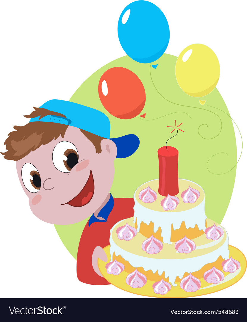 Explosive birthday cake vector | Price: 1 Credit (USD $1)
