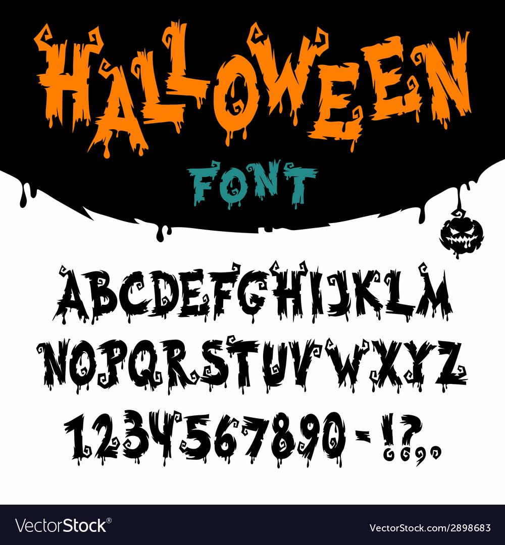 Halloween font vector | Price: 1 Credit (USD $1)
