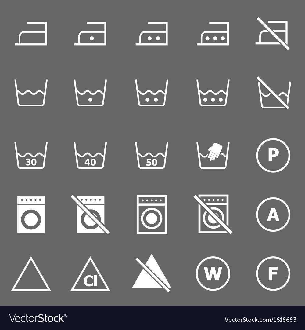 Laundry icons on gray background vector | Price: 1 Credit (USD $1)
