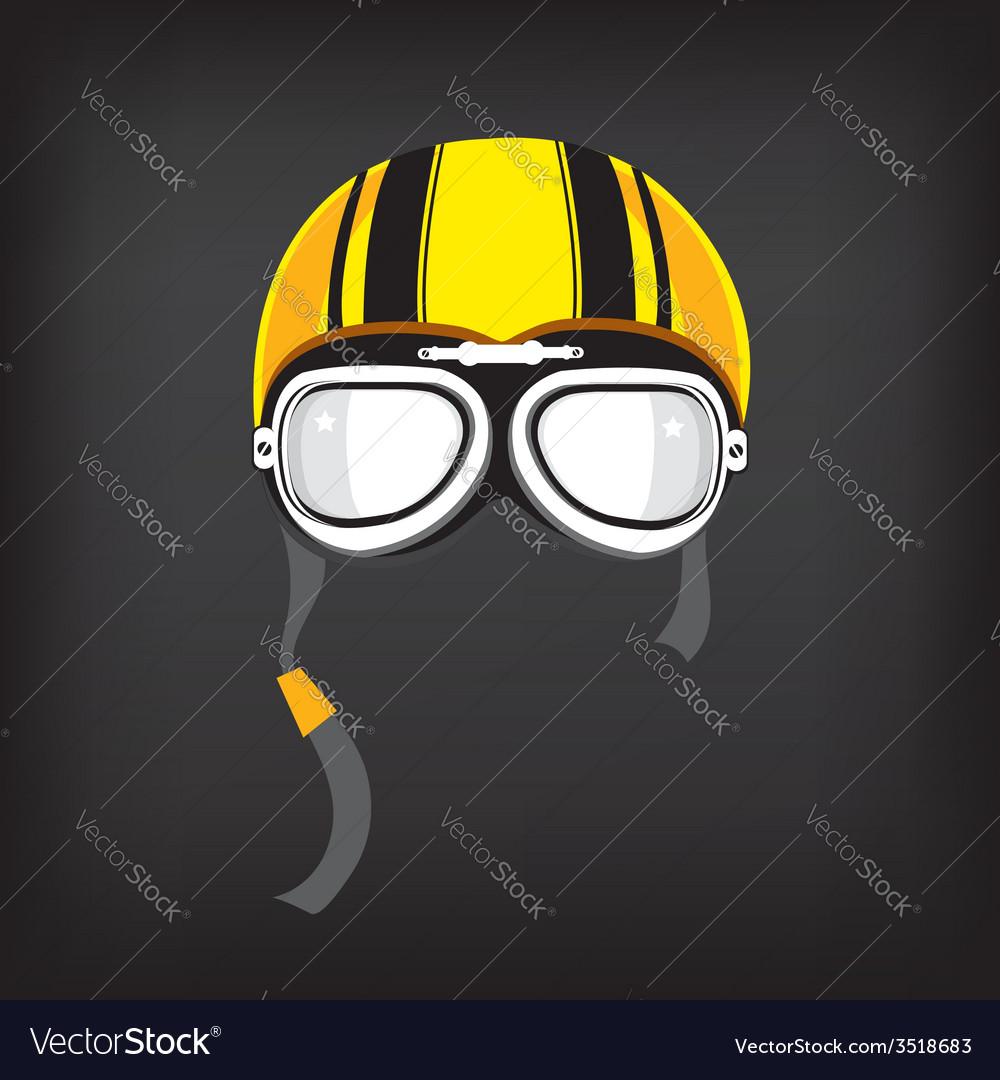 Motorcycle helmet vintage vector | Price: 1 Credit (USD $1)