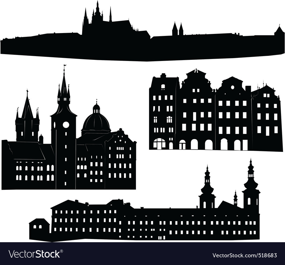 Silhouette of prague vector | Price: 1 Credit (USD $1)