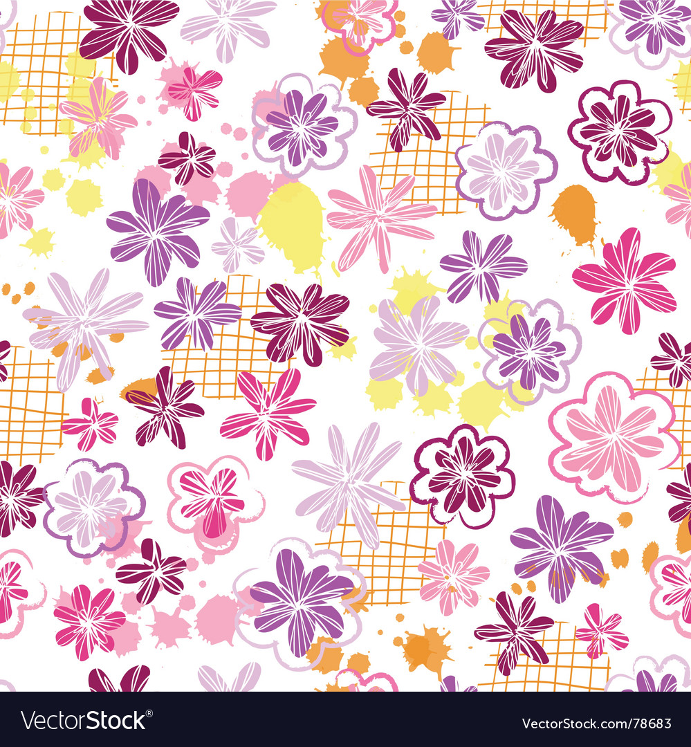 Skribbled flowers vector | Price: 1 Credit (USD $1)