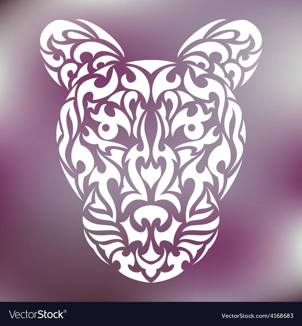Tribal leopard vector | Price: 1 Credit (USD $1)