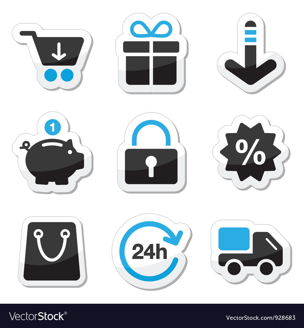 Web and internet icons set  shopping vector