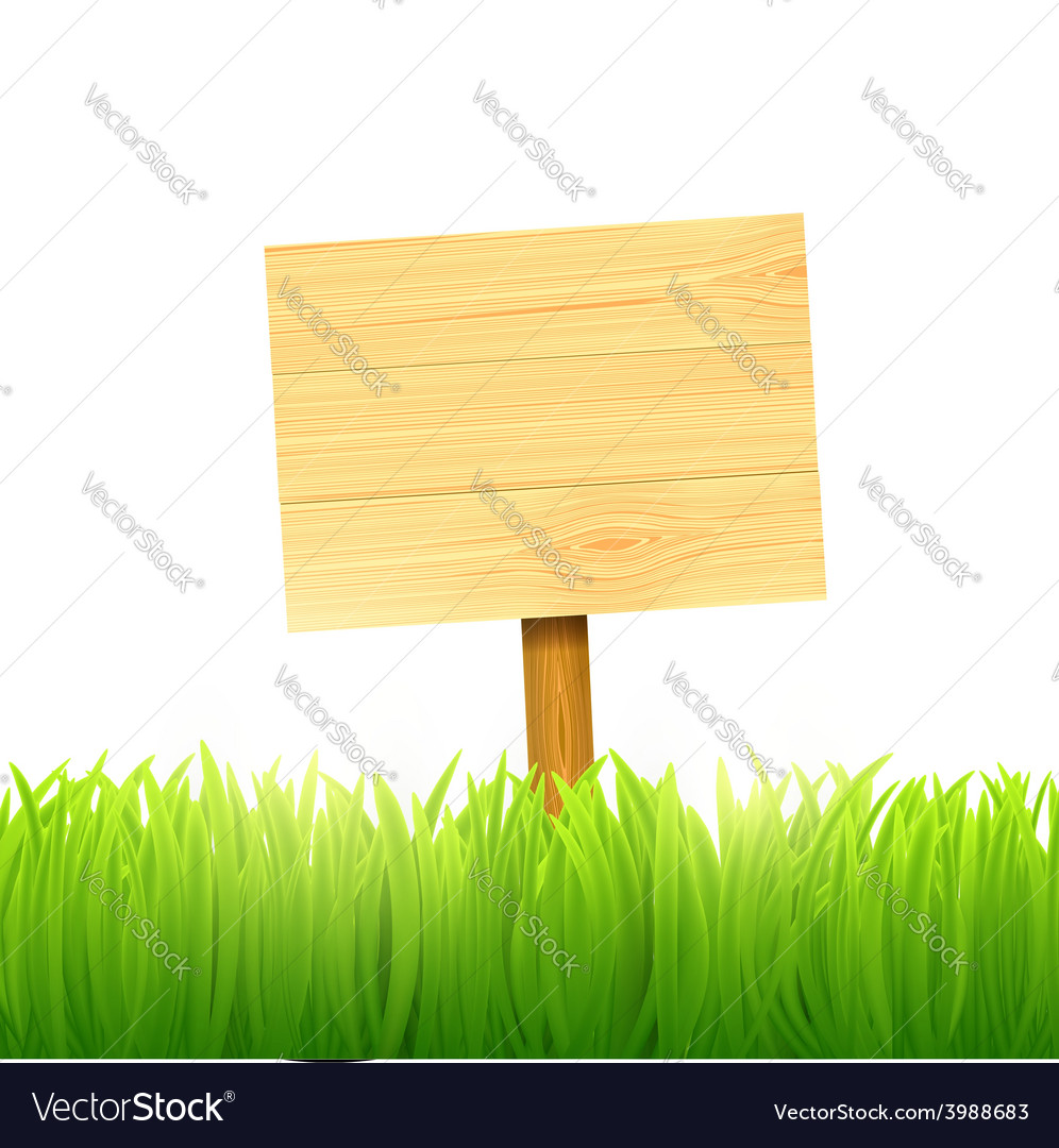 Wooden board index vector | Price: 1 Credit (USD $1)
