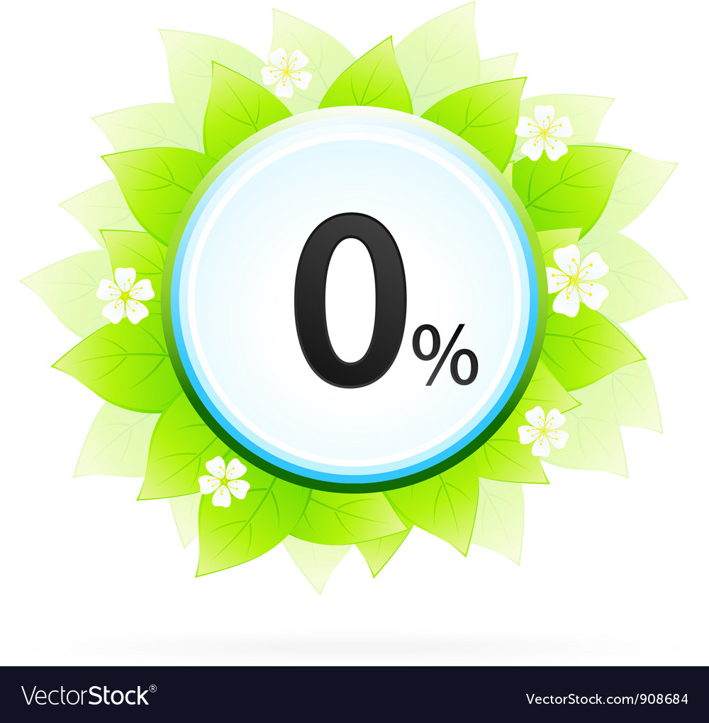 0 percent icon vector | Price: 3 Credit (USD $3)