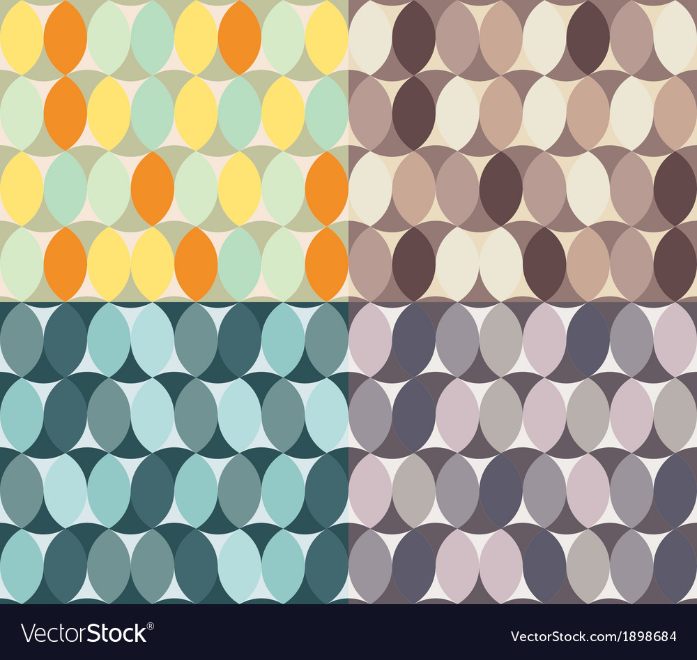 Abstract seamless textures circle element vector | Price: 1 Credit (USD $1)