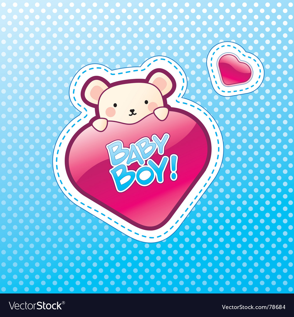 Baby boy postcard vector | Price: 1 Credit (USD $1)
