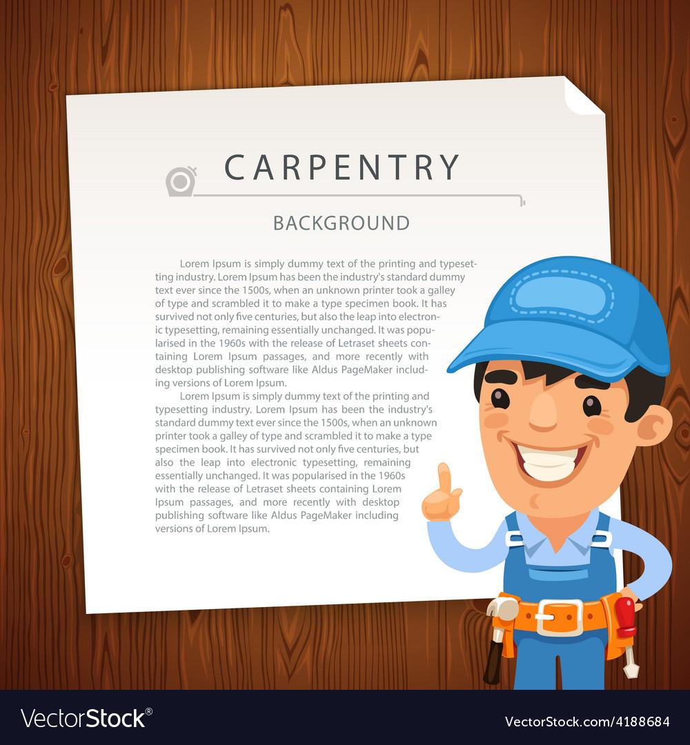 Carpentry bg man vector | Price: 1 Credit (USD $1)