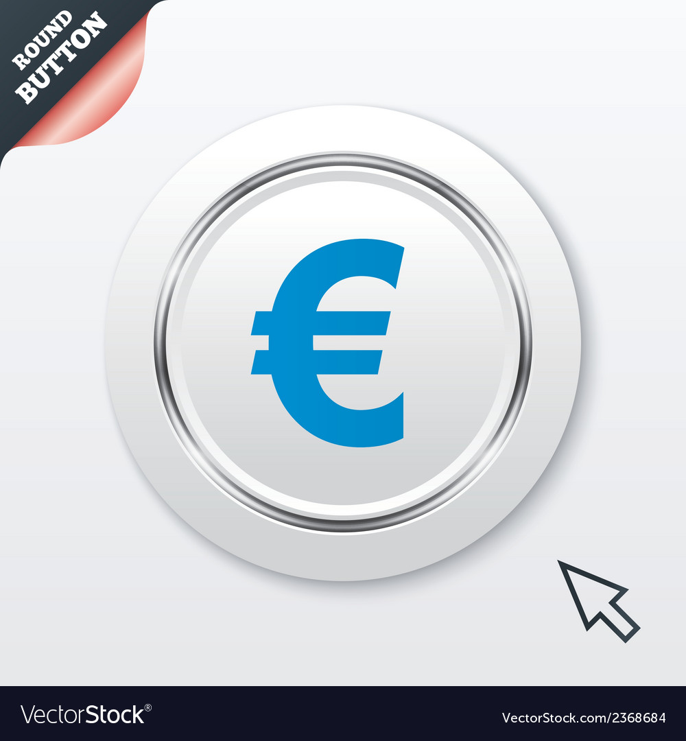 Euro sign icon eur currency symbol vector | Price: 1 Credit (USD $1)