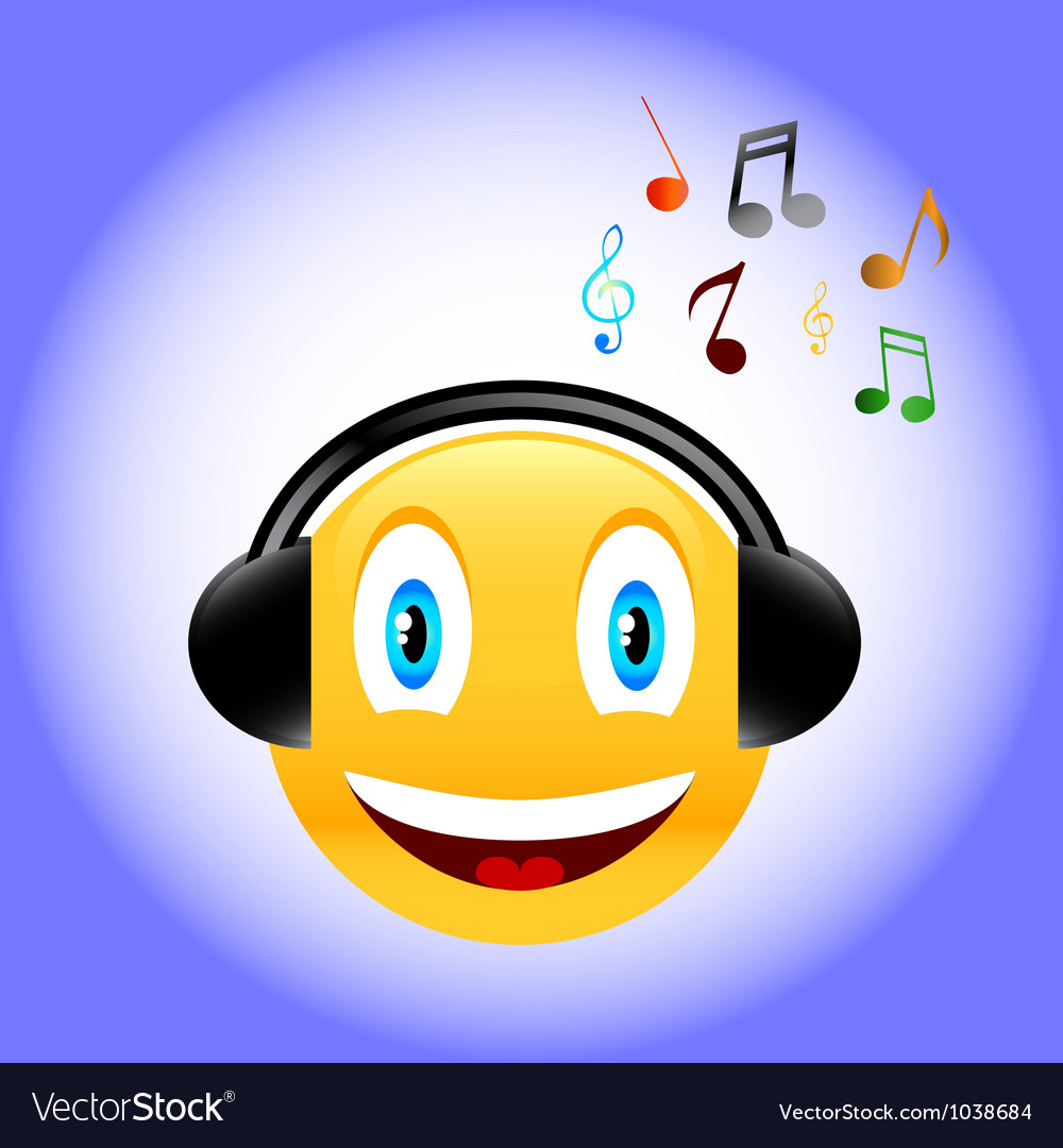 Music smile vector | Price: 1 Credit (USD $1)