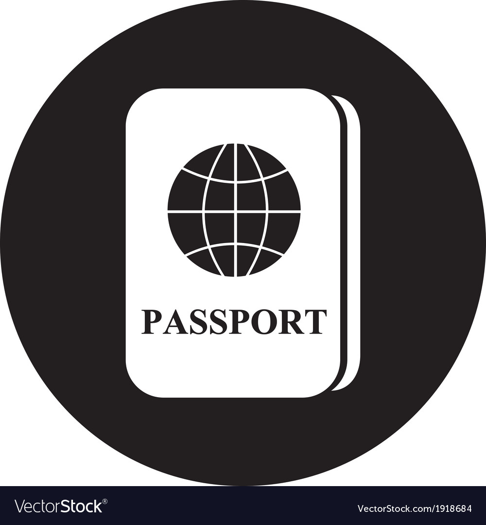 Passport icon vector | Price: 1 Credit (USD $1)