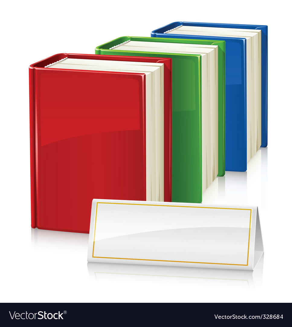 Set of books with sign vector | Price: 1 Credit (USD $1)