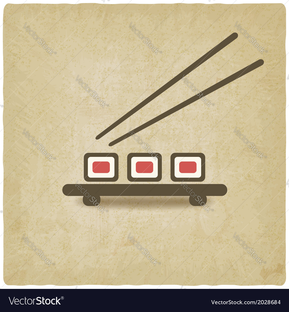 Sushi roll old background vector | Price: 1 Credit (USD $1)