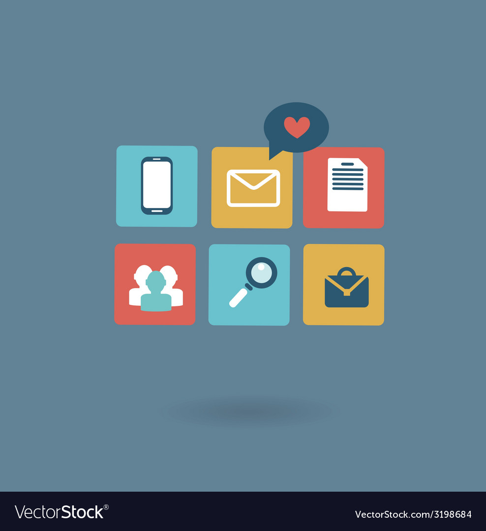 Working environment of a businessman icon vector | Price: 1 Credit (USD $1)