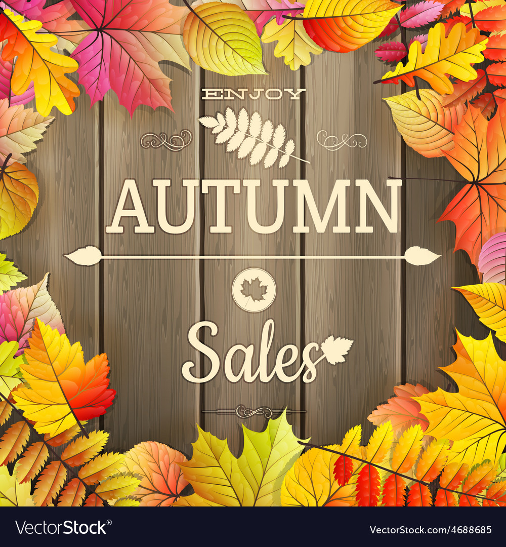 Autumn sale typography poster eps 10 vector | Price: 3 Credit (USD $3)