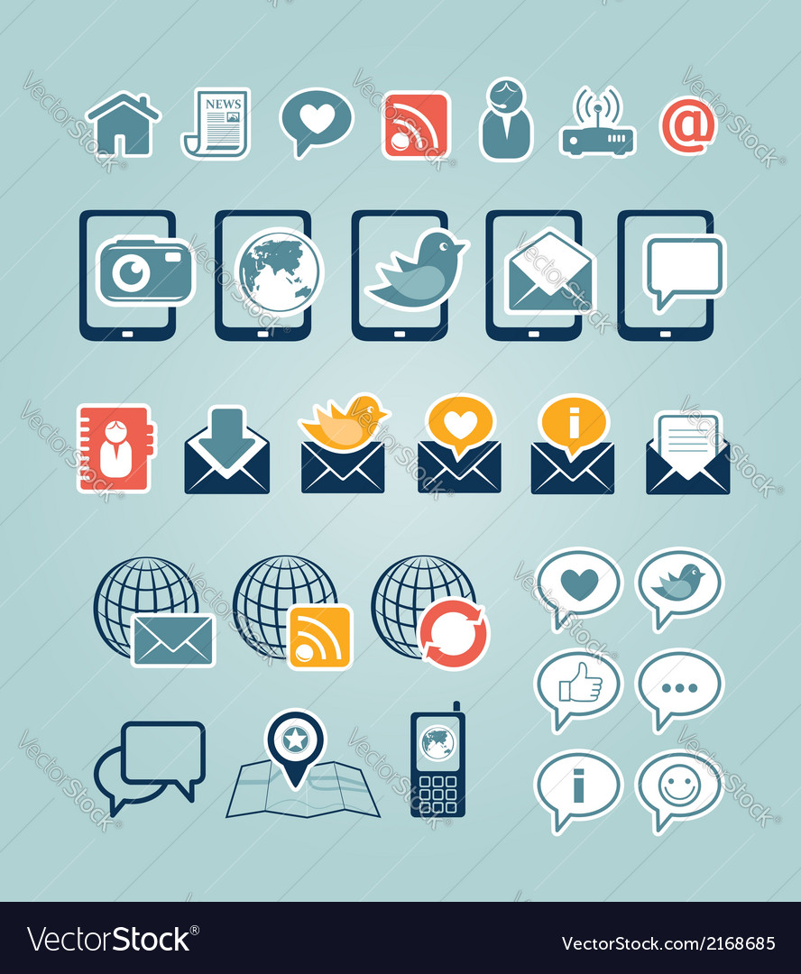 Communication icons vector | Price:  Credit (USD $)
