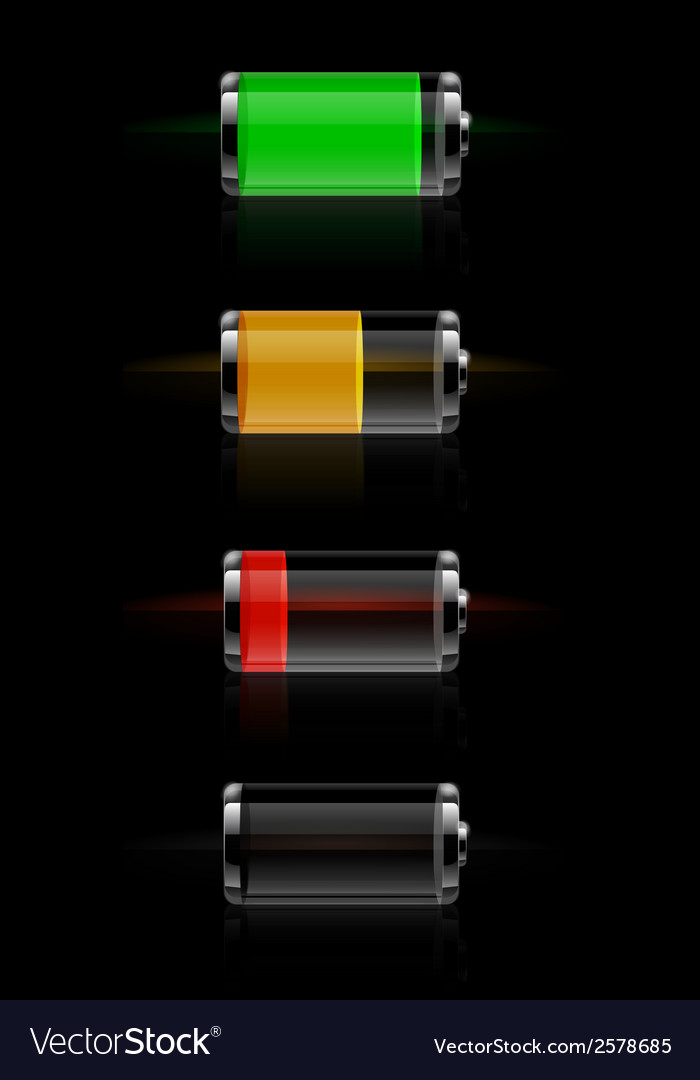 Glossy transparent battery level indicator vector | Price: 1 Credit (USD $1)