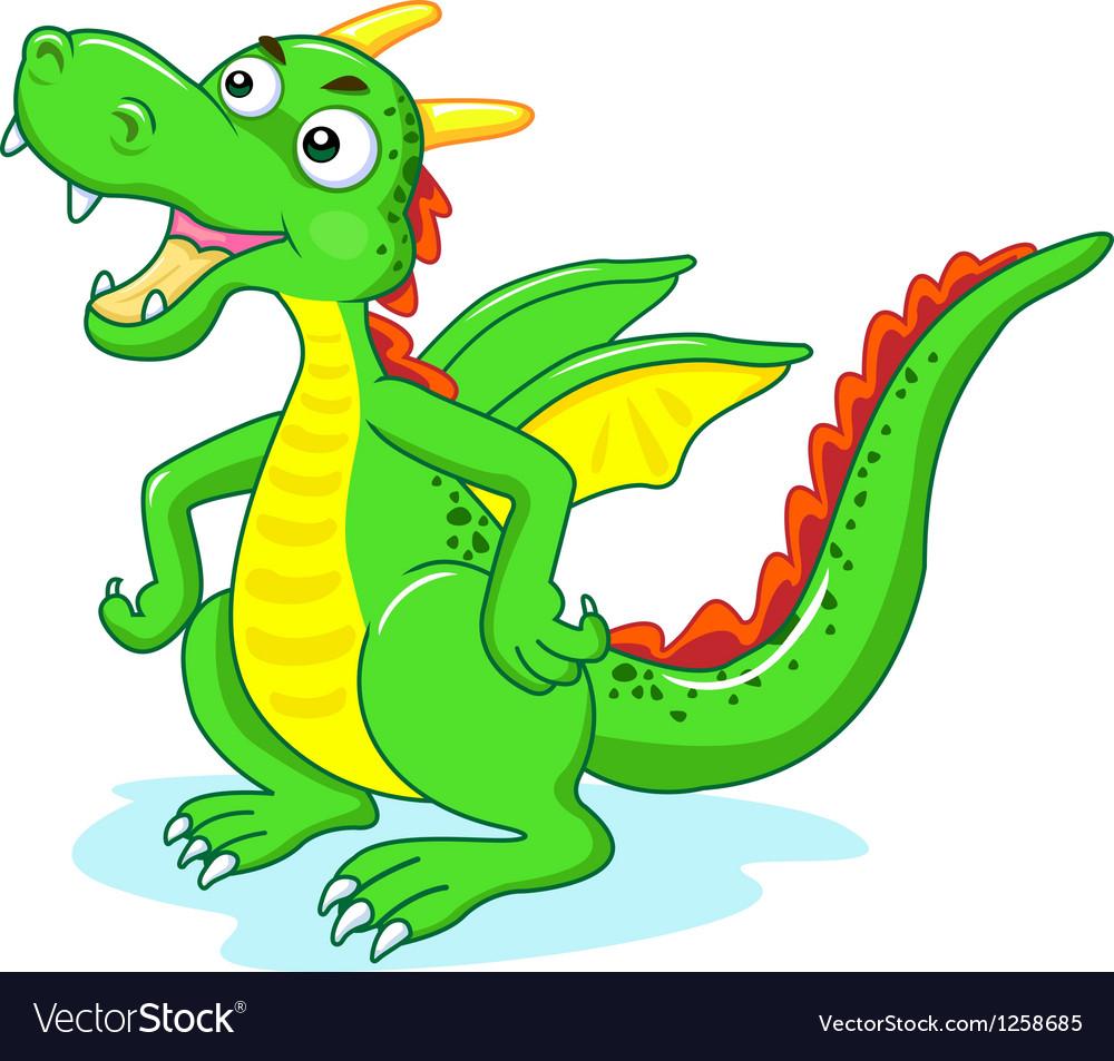 Green dragon vector | Price: 1 Credit (USD $1)