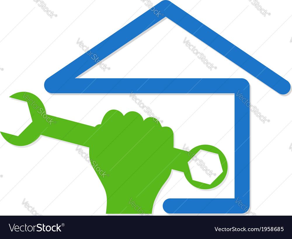 Home repair symbol vector | Price: 1 Credit (USD $1)