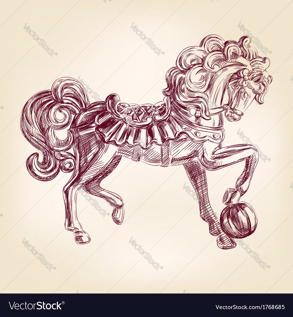 Horse llustration vector | Price: 1 Credit (USD $1)