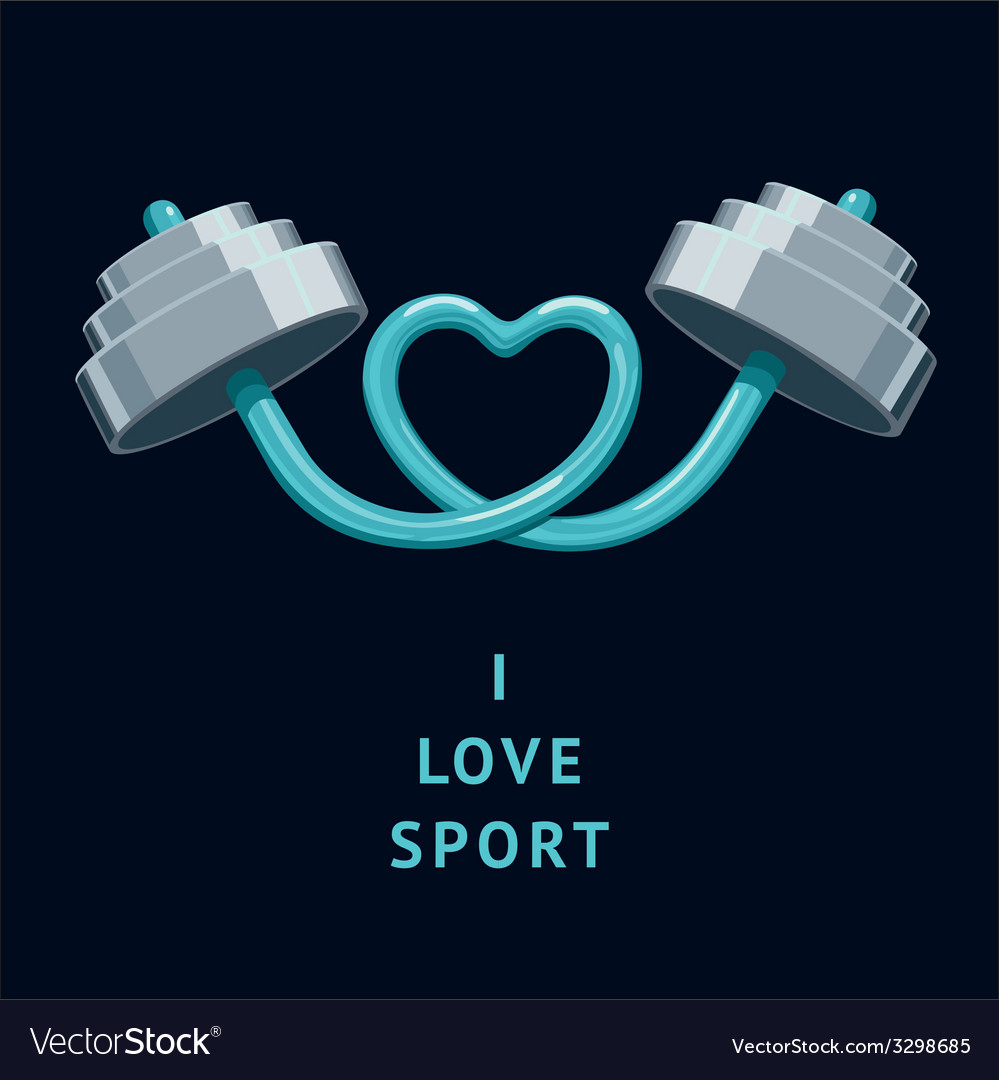 I love sport vector | Price: 1 Credit (USD $1)
