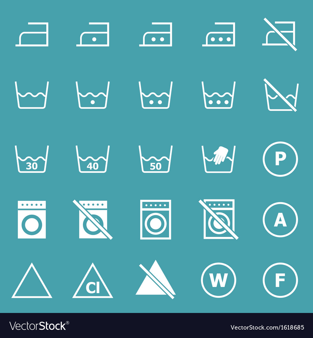 Laundry icons on blue background vector | Price: 1 Credit (USD $1)