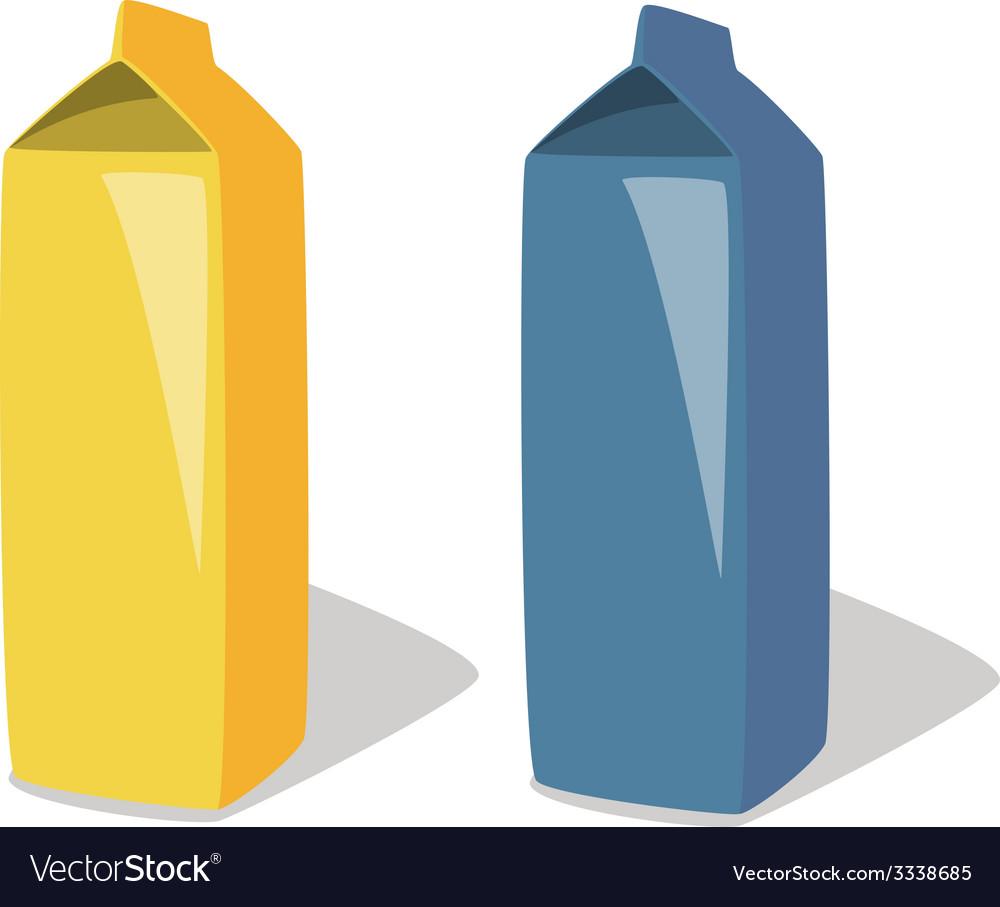 Milk package vector | Price: 1 Credit (USD $1)