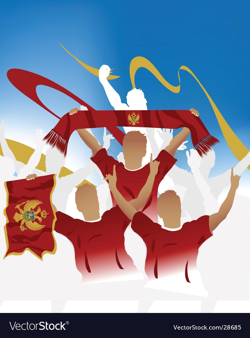 Montenegro crowd vector | Price: 1 Credit (USD $1)