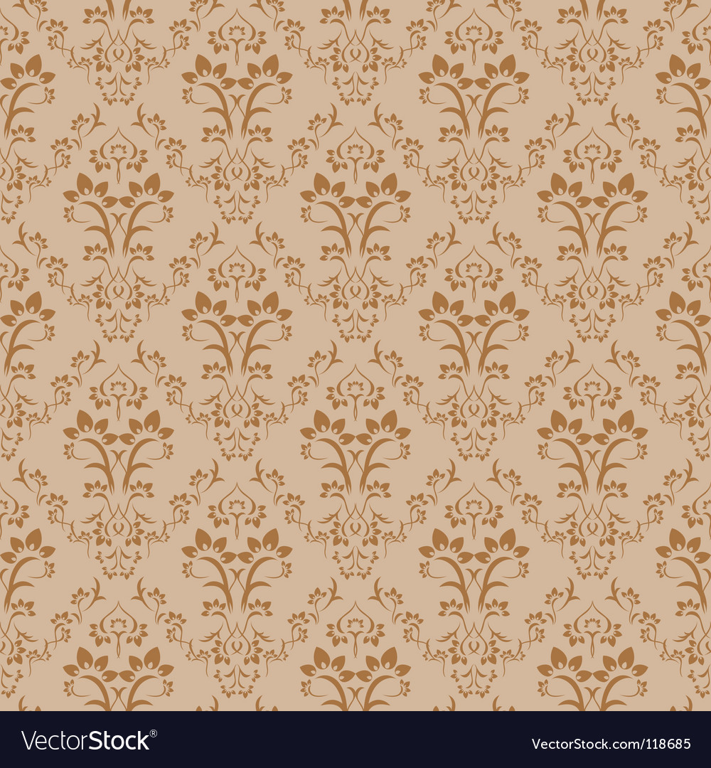 Retro damask pattern vector | Price: 1 Credit (USD $1)