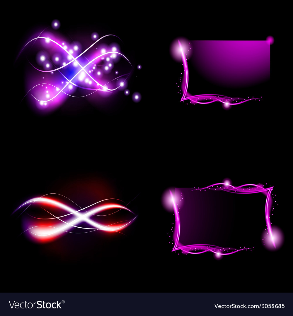 Set of colorful abstract background with blurred vector | Price: 1 Credit (USD $1)