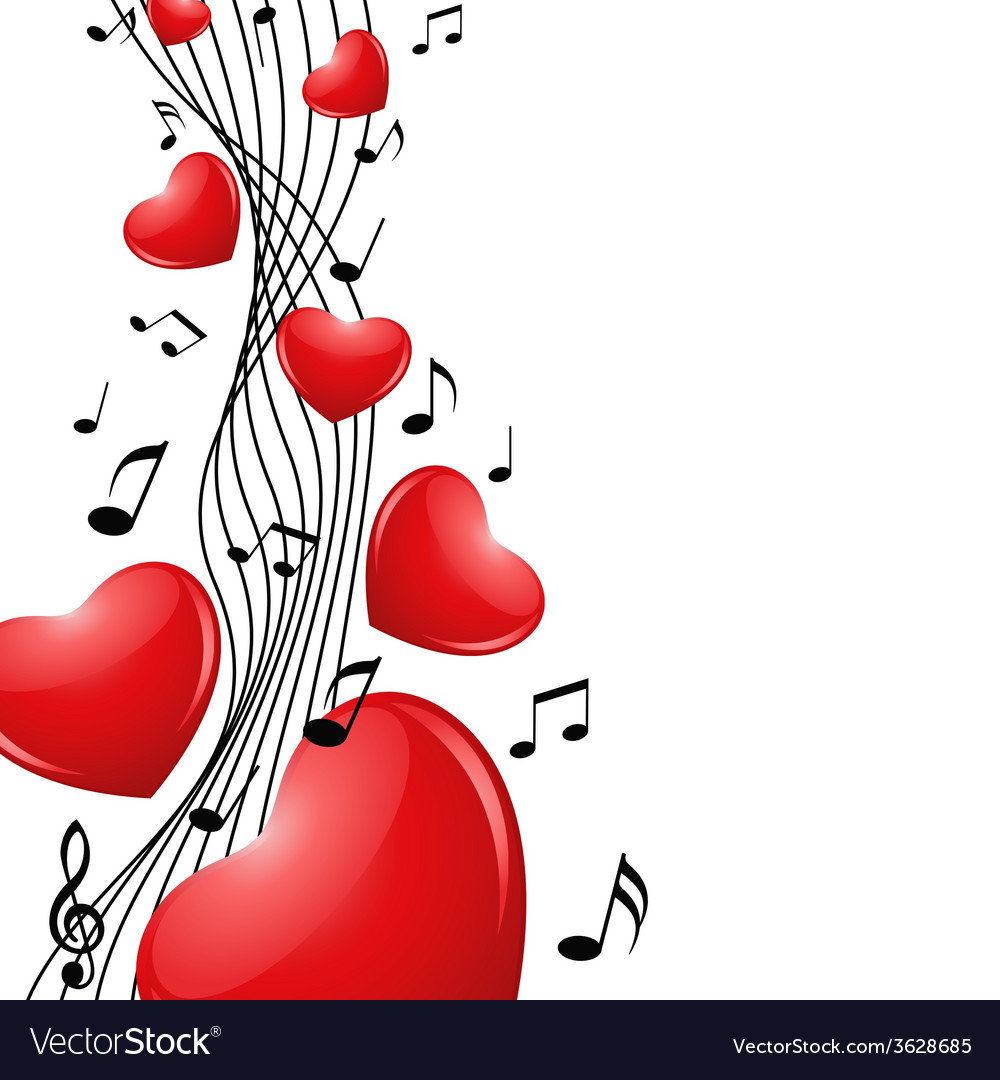 Singing heart vector | Price: 1 Credit (USD $1)
