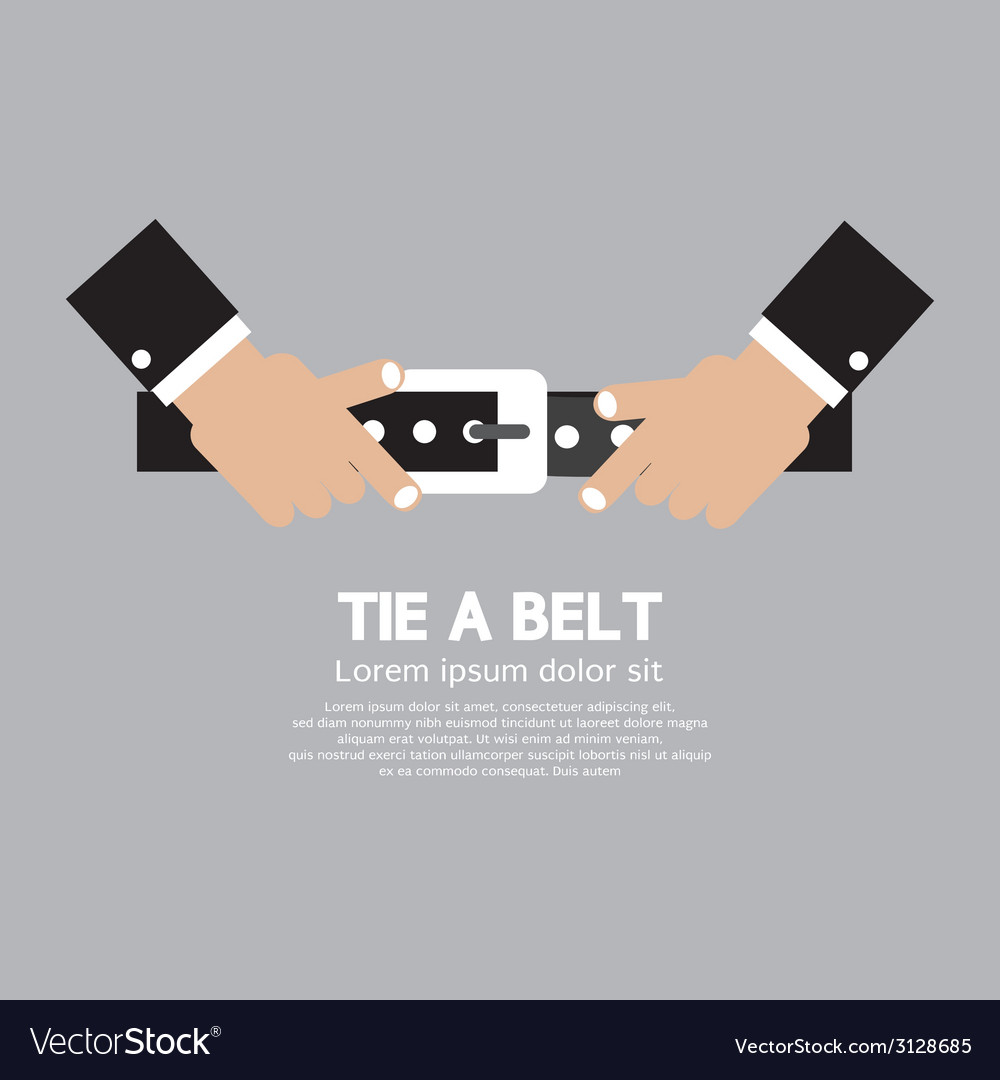 Tie a belt vector | Price: 1 Credit (USD $1)
