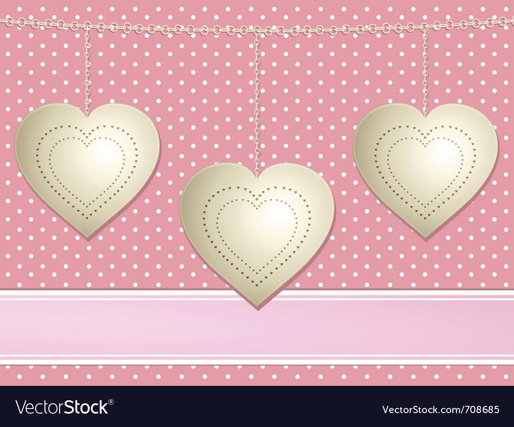Valentine hearts background vector | Price: 1 Credit (USD $1)