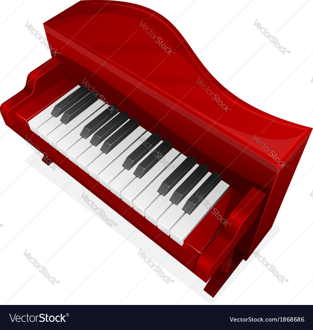 Big red piano vector | Price: 1 Credit (USD $1)