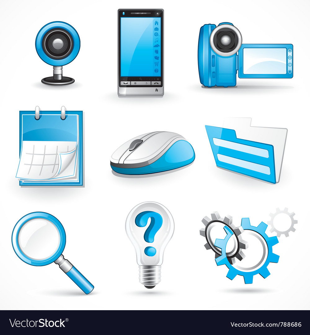 Blue icons vector | Price: 3 Credit (USD $3)