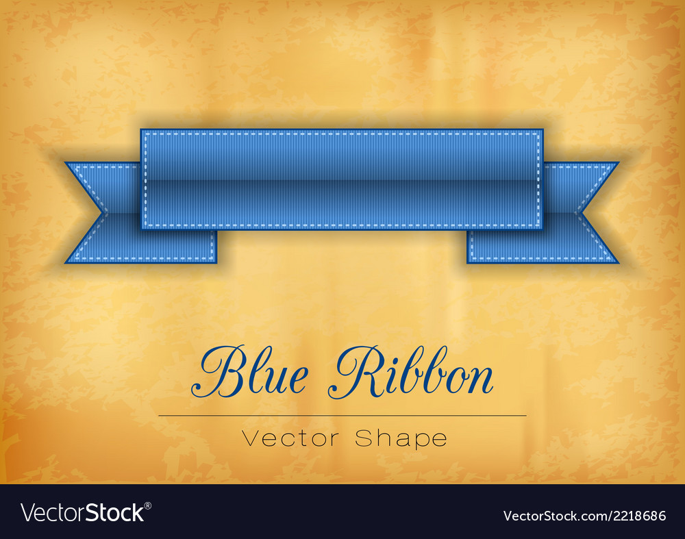 Blue ribbon vector | Price: 1 Credit (USD $1)