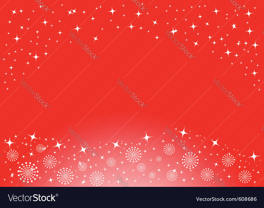 Christmas background with white snowflakes and sta vector | Price: 1 Credit (USD $1)
