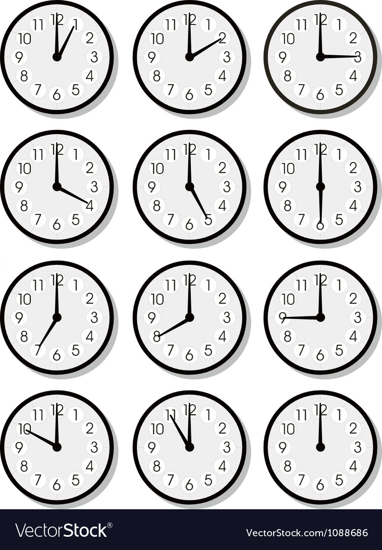 Clock faces vector | Price: 1 Credit (USD $1)