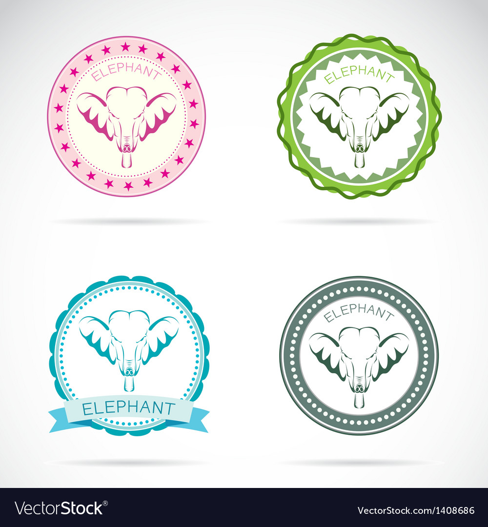 Elephant labels vector | Price: 3 Credit (USD $3)