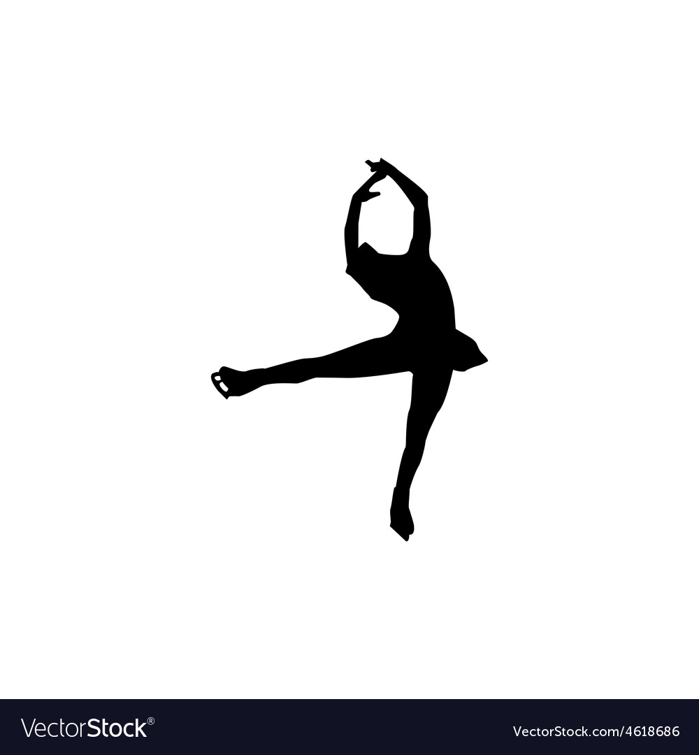 Figure skating individual silhouettes vector   Price: 1 Credit (USD $1)