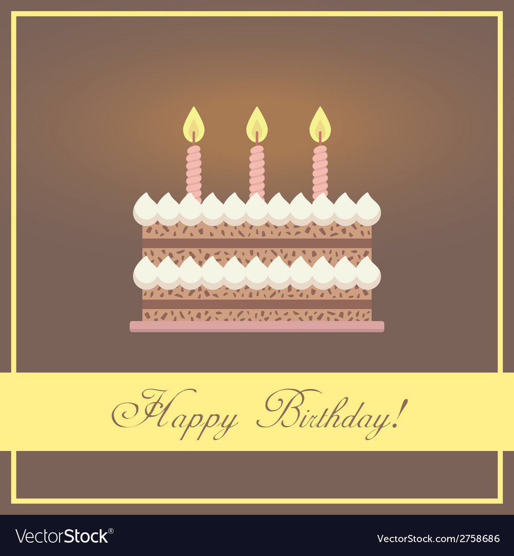 Flat design happy birthday greeting card with vector   Price: 1 Credit (USD $1)