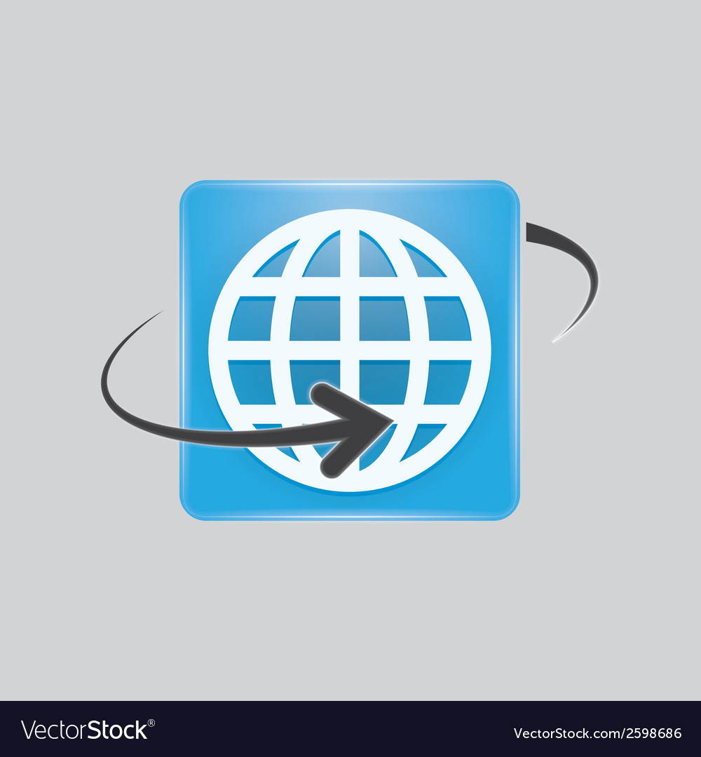 Globe icon vector | Price: 1 Credit (USD $1)