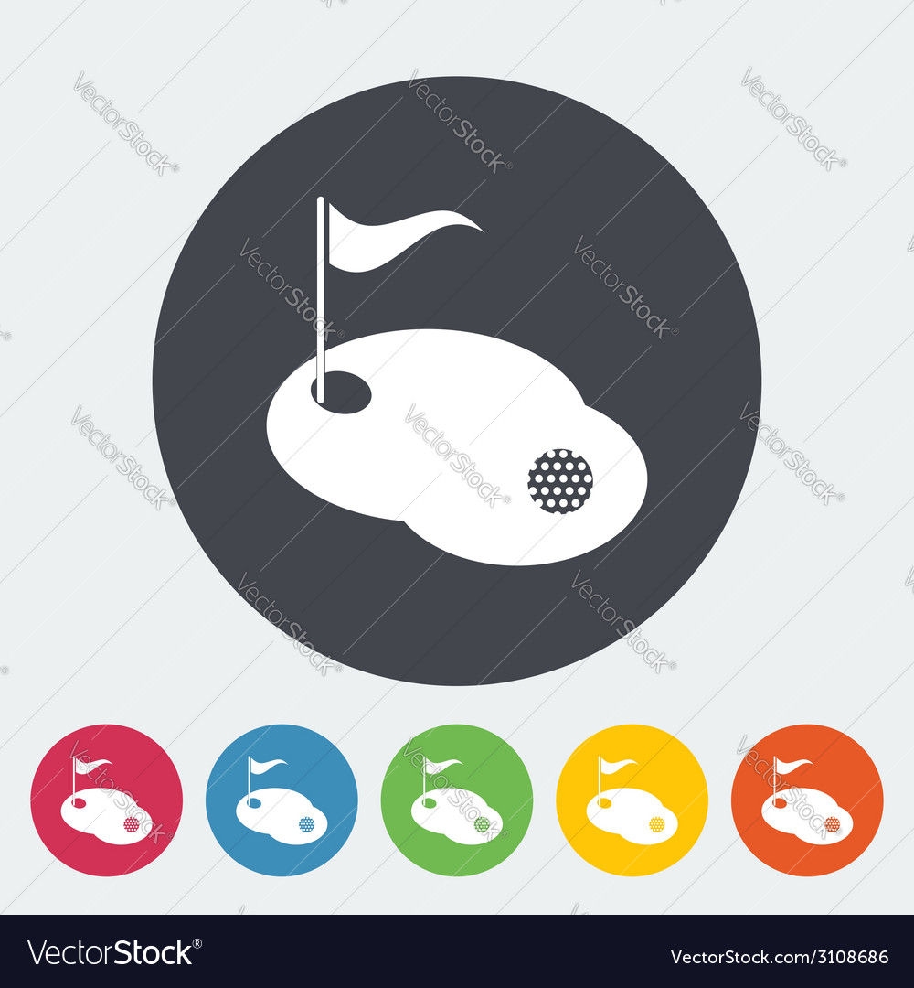 Golf single icon vector | Price: 1 Credit (USD $1)