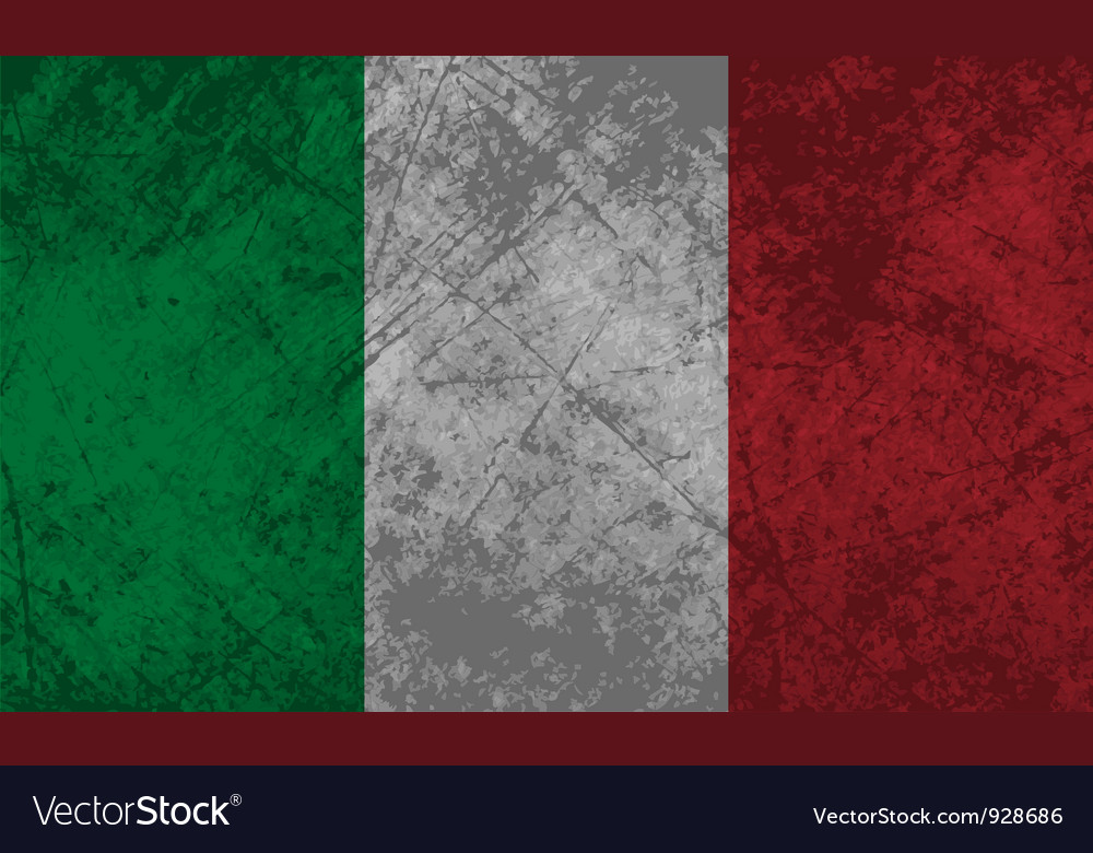 Italian flag grunge vector | Price: 1 Credit (USD $1)