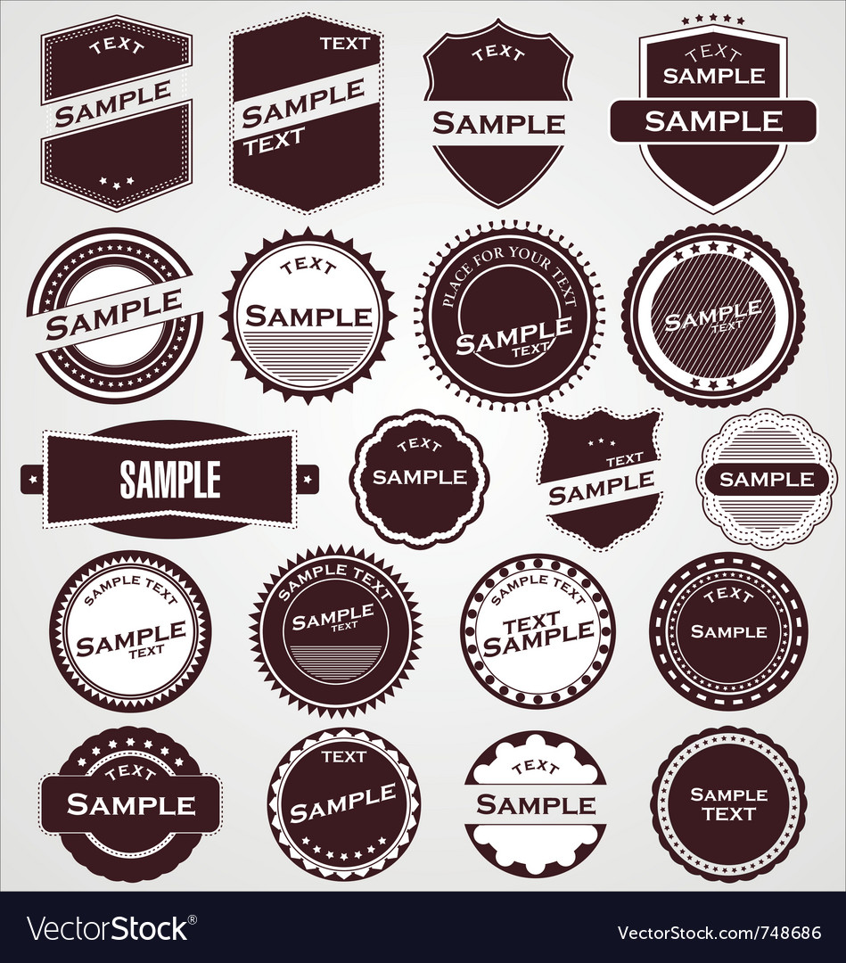 Labels with retro design vector | Price: 1 Credit (USD $1)